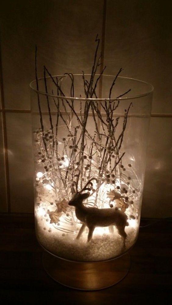 Glass globe Christmas with lights