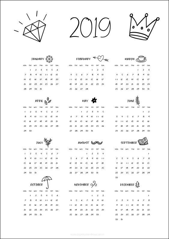 Calendars 2019 - free download - Espresso&Mascara