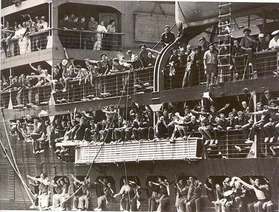 Passengers on board a P&O liner.