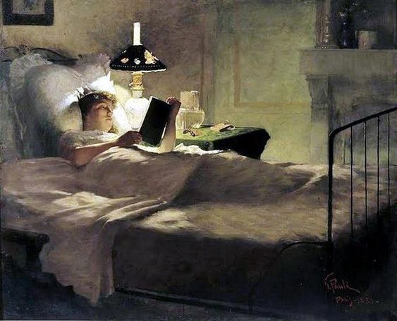 Â¿LEEMOS UN RATITO ANTES DE DORMIR? ;-) Evening Reading, Georg Pauli (1884).
