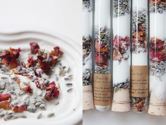 Aromatherapy bath salts