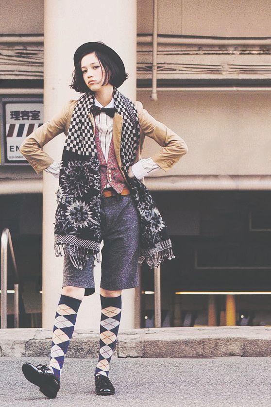 オールドファッションのかっこいい水原希子