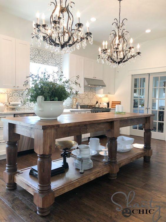 Styled kitchen islands