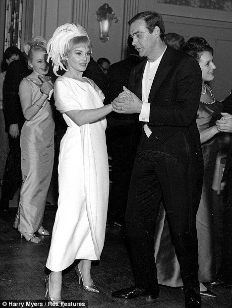 Bond girl: Diane dances with Connery at the Thunderball premiere party at the Odeon Leicester Square in London in 1965