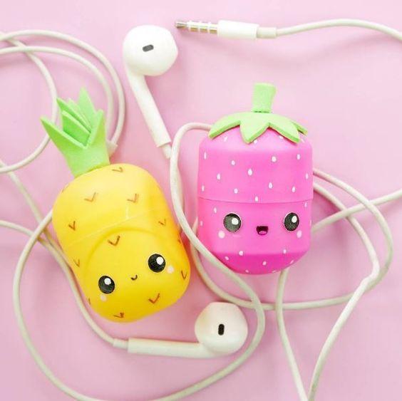 KawaiiBox.com ❤ The Cutest Subscription Box — Summer themed kawaii earphone holders are just...