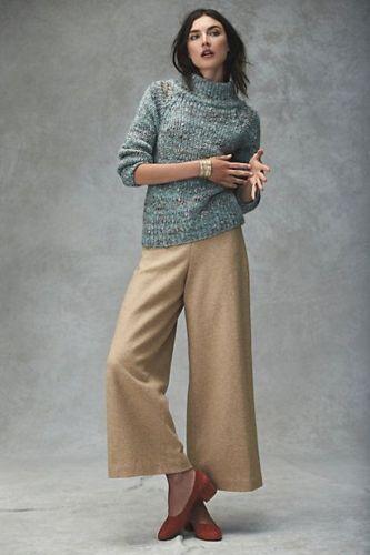 Moth Anthropologie Women Sweater Marled Mockneck Pullover Wool Blend S #Anthropologie #PulloverSweater
