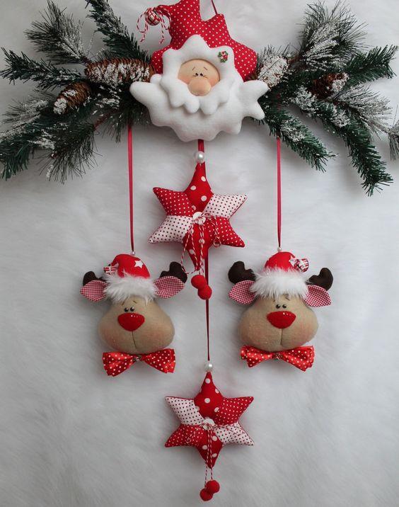 Babbo Natale alci stella ghirlanda pendente casa di campagna nostalgia Tilda tessuto .... | Arredamento e casa, Decorazione, Altro | eBay!