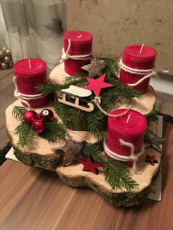Era oque estou precisando bandejas com velas p. O Natal tempo do advento