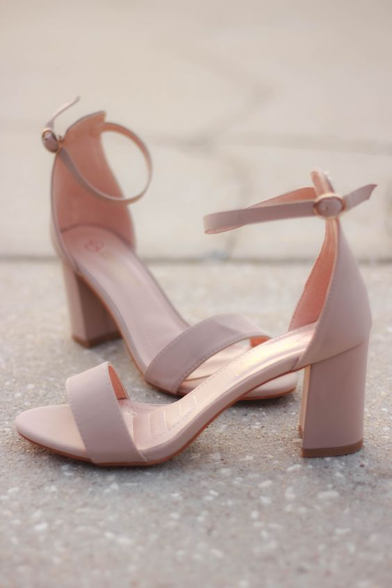 Nude heels that will go with every outfit! And a low enough heel that makes it comfortable to wear all night! Fit: True to size.