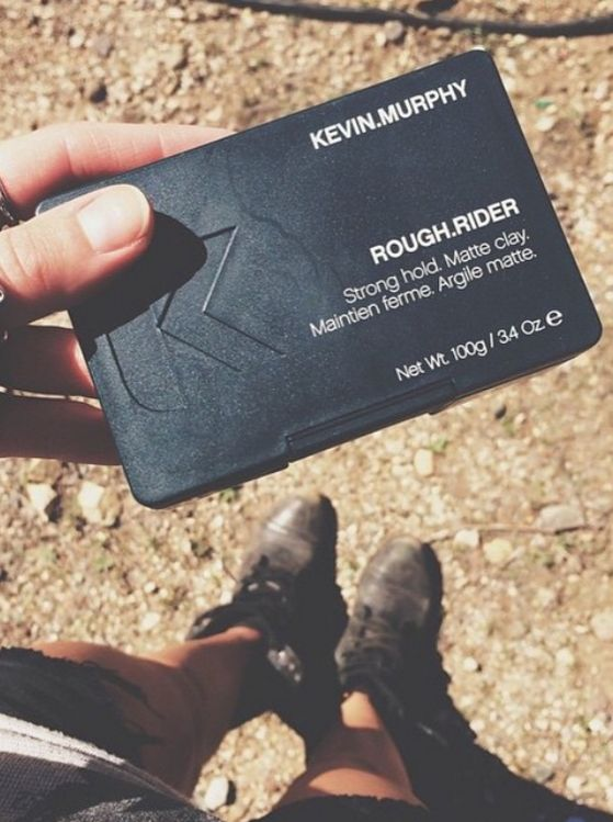 ROUGH.RIDER is a strong hold hair clay from KEVIN.MURPHY used to create a matte defined look