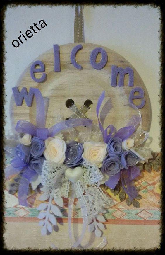 bottone con fiori viola