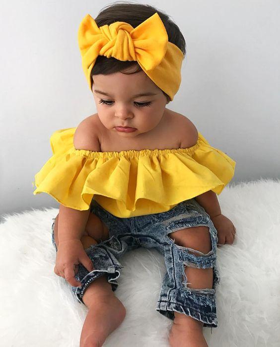 """❥❥ ℒᏋƬƖ∁ƖᎯ ❥❥ on Instagram: """"parce que jadore tout simplement ce outfit @childrensclosetboutique et les Bandana Léticia @leticiaxmpompon <div class="""