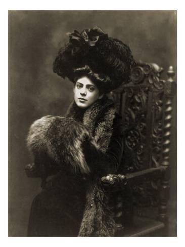 Photo: Ethel Barrymore, in a 1901 Studio Portrait by Burr Mcintosh : 24x18in