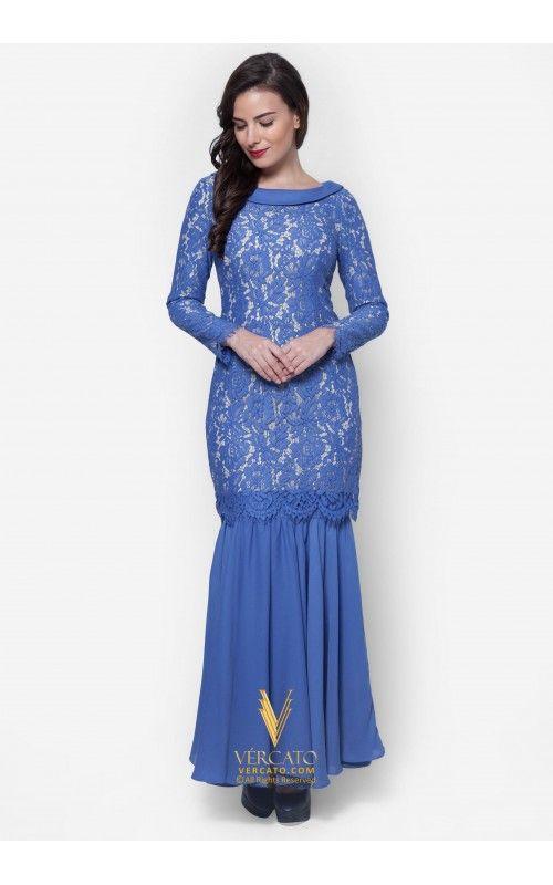Baju Kurung Moden Lace - Vercato Mila in Blue