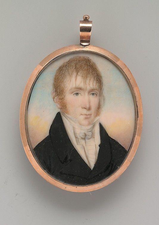 Peter Gilman Odlin  Raphaelle Peale (1774–1825)  Date: ca. 1805 Medium: Watercolor on ivory in rose gold locket Dimensions: 2 3/16 x 1 25/32 in. (5.6 x 4.7 cm)