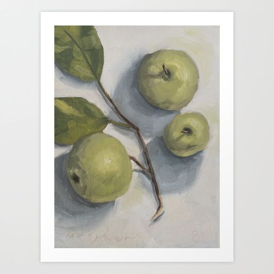 Buy windfall apples Art Print by missmustardseed. Worldwide shipping available at Society6.com. Just one of millions of high quality products available.