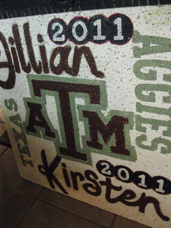 College( Texas ATM Aggies) Ceiling Tile for High School Seniors as a gift back to the school