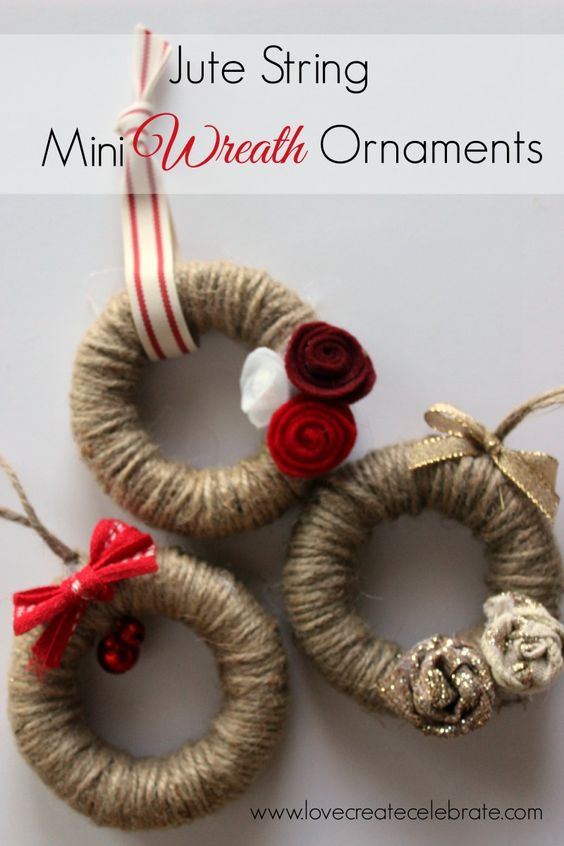 Aren't these the cutest little ornaments you've ever seen! Thank you again, for joining me! This is day two of my eight days of amazing Christmas crafts for my home :) I just LOVE how these mini wreaths turned out. I'm incorporating a lot of red, gold, and burlap into my Christmas decor this year,…