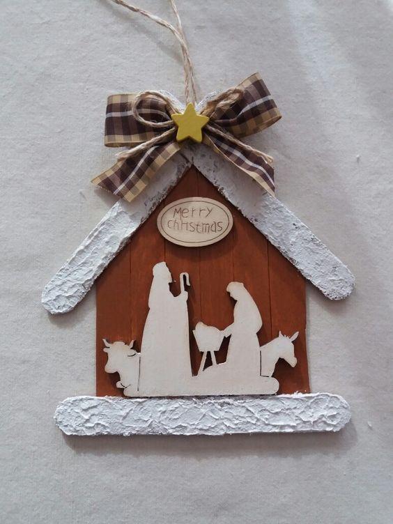 Popsicle Stick Nativity Scene
