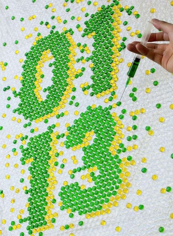 DYI Bubble Wrap Typography