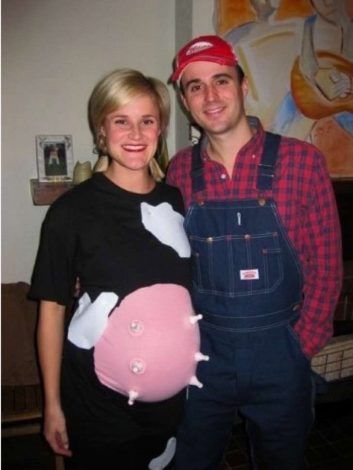 "Pregnant Halloween Costumes | Click to see tons of cute and funny costume ideas for couples, family, with toddler and painted belly. See ""scary"" costumes, zombie, pregnant skeleton, unicorn, kangaroo, avocado, pumpkin, Disney, Monsters Inc... and much more."