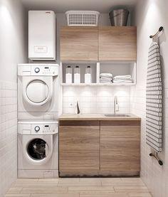 laundry area of minimalist living