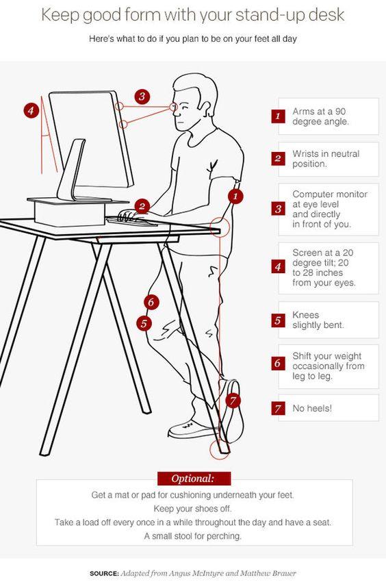 standing desk exercises