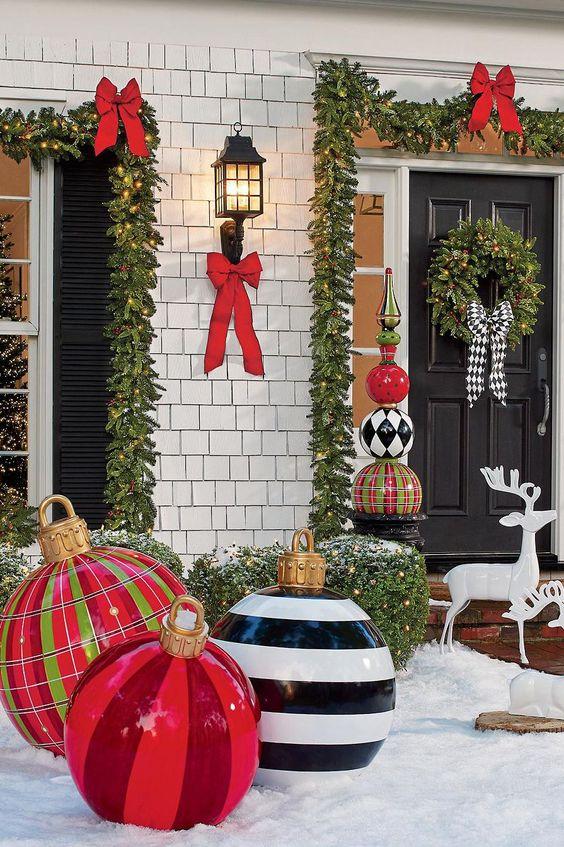 Grandi ornamenti di Natale all'aperto - Decorazioni di ornamenti per le decorazioni di grandi dimensioni