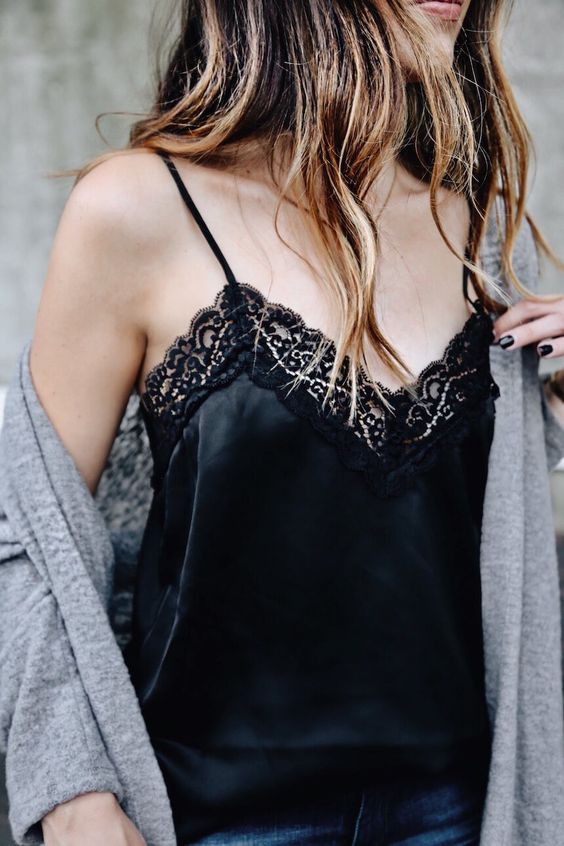 Elevate an oversized sweater with a too-chic-to-cover-up camisole - pair it with distressed denim and a cult-worthy bag for off-duty impact.    These styles use a loose knitting style that creates larger holes – making the sweater kind of see through and very breathable, even if it's heavy yarn. The