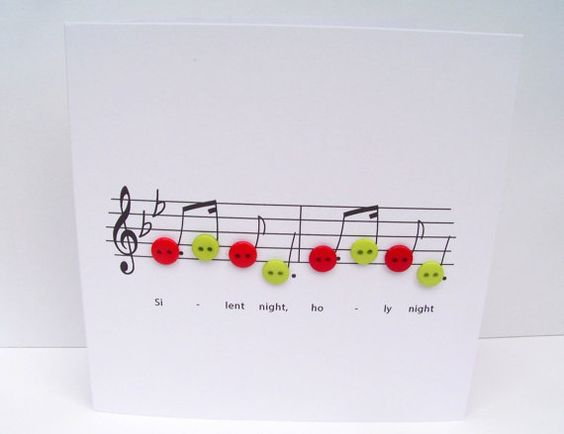 Note di musica di Natale Set confezione da 12 di Nikelcards