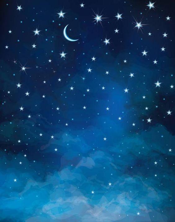 Night Starry Sky Moon and Stars Photography Backdrops | Etsy