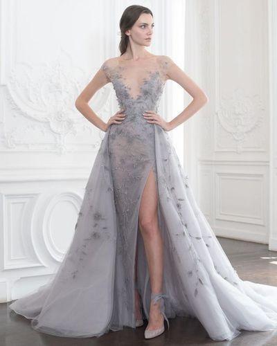 Amazing Deep V-neck wedding dresses