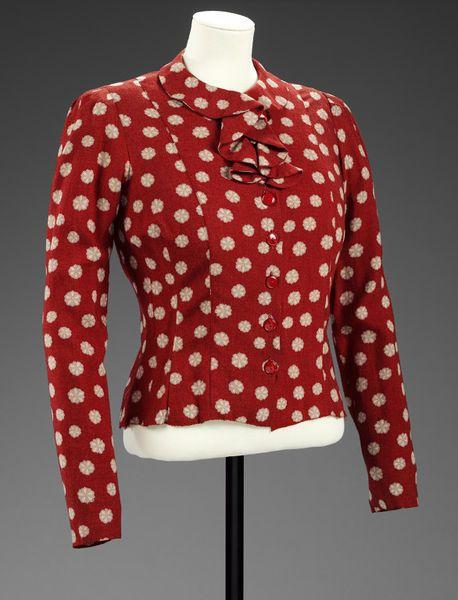 Bianca Mosca blouse 1942. Image via Pinterest.