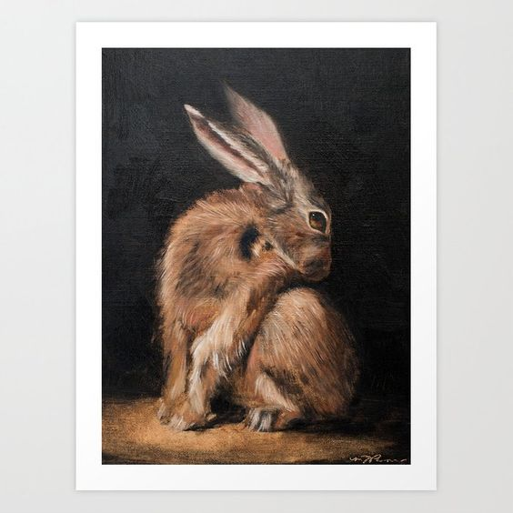 Buy hare Art Print by missmustardseed. Worldwide shipping available at Society6.com. Just one of millions of high quality products available.