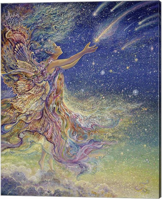 Metaverse Catch A Falling Star by Josephine Wall Canvas Art