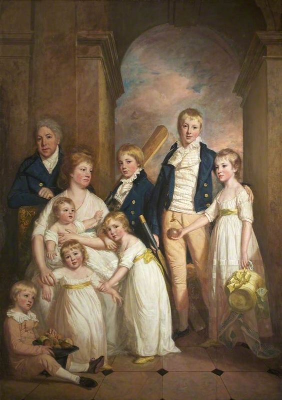 Thomas Tyndall with wife and Children by Thomas Beach c.1800