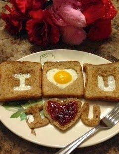 Valentine's Day Eggs & Toast