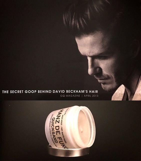 สำหรับคนที่ชื่นชอบในความเท่ห์ของทรงผมของ David Beckham ดูเป็นธรรมชาติ กับ texture สวยๆ วันนี้ Dandy T จัด Hanz de Fuko Quicksand โปรดักที่ David Beckam ชื่นชอบ และใช้ในการเซ็ตผมของเค้า # QUICKSAND (2 oz / 60 ml) www.dandytpomadethailand.com