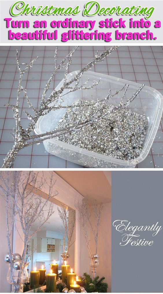 Smart Health Talk Pick: Low cost way to make something that can add something special to a room. Use a small branch, hang on wall and add other decorations to hang on it such as garland or small bulbs. #DIYDecorHome