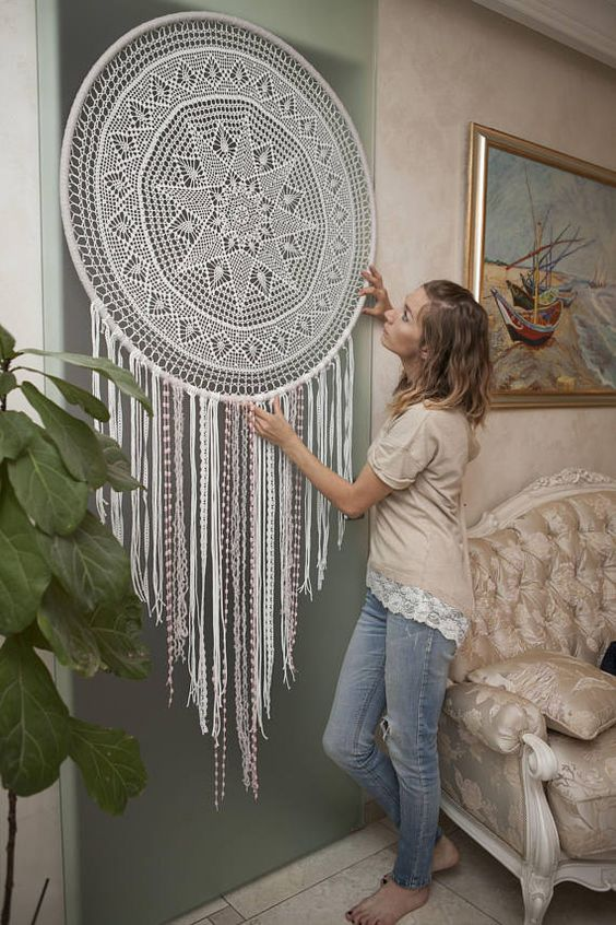 Antistress Tapestry Round Mandala Big Dream Catcher
