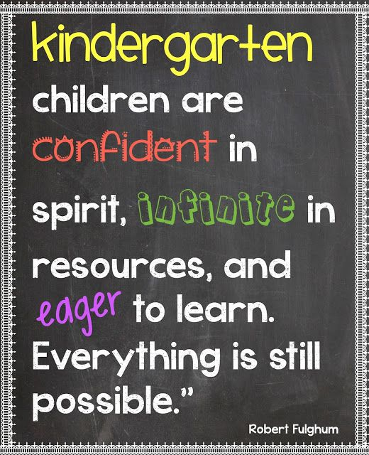 Kindergarten Kiosk: Kindergarten. Where Everything is Still Possible