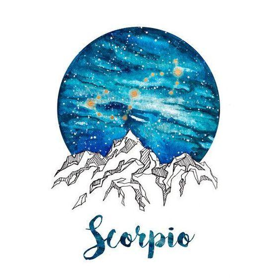Scorpio Zodiac Watercolour Painting #horoscopecompatibility