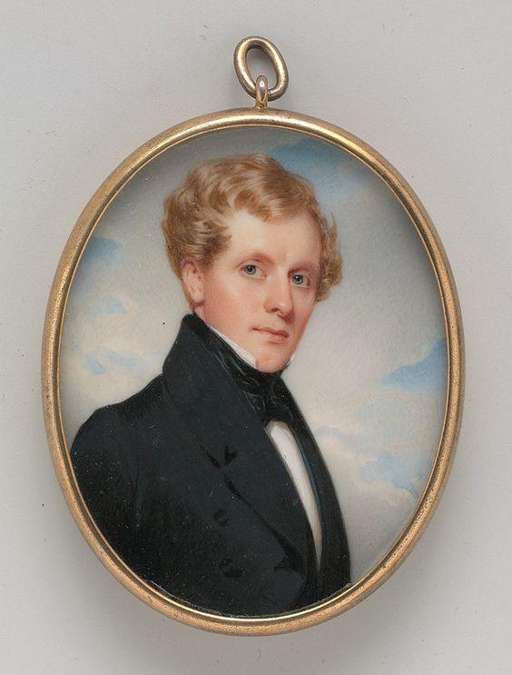 Portrait of a Gentleman Date circa 1835 Medium Watercolor on ivory