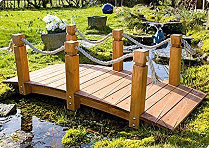Gaspo - Ponte con corrimano per il giardino