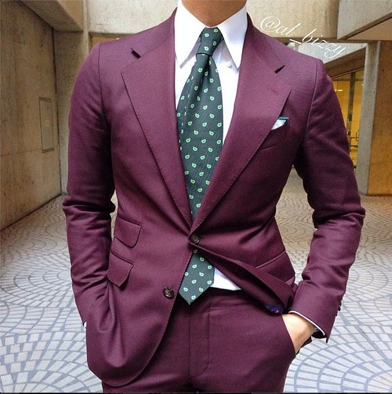 Burgundy and Green