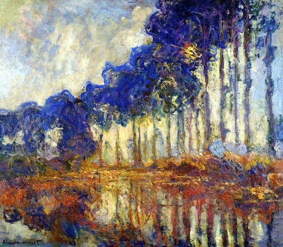 Les Peupliers, Automne ~Claude Monet