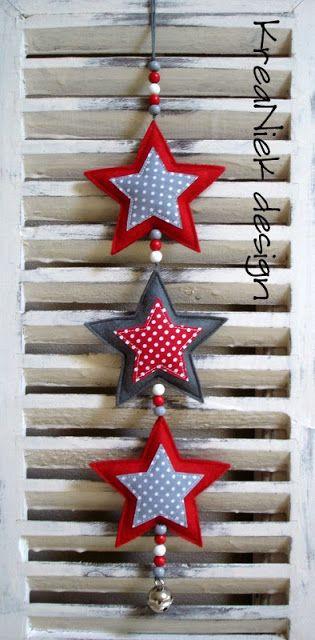 KreaNiek Design: Slingers Sterren Decorazioni XMAS / Albero di natale / ornamenti / Natale / styling La migliore decorazione natalizia