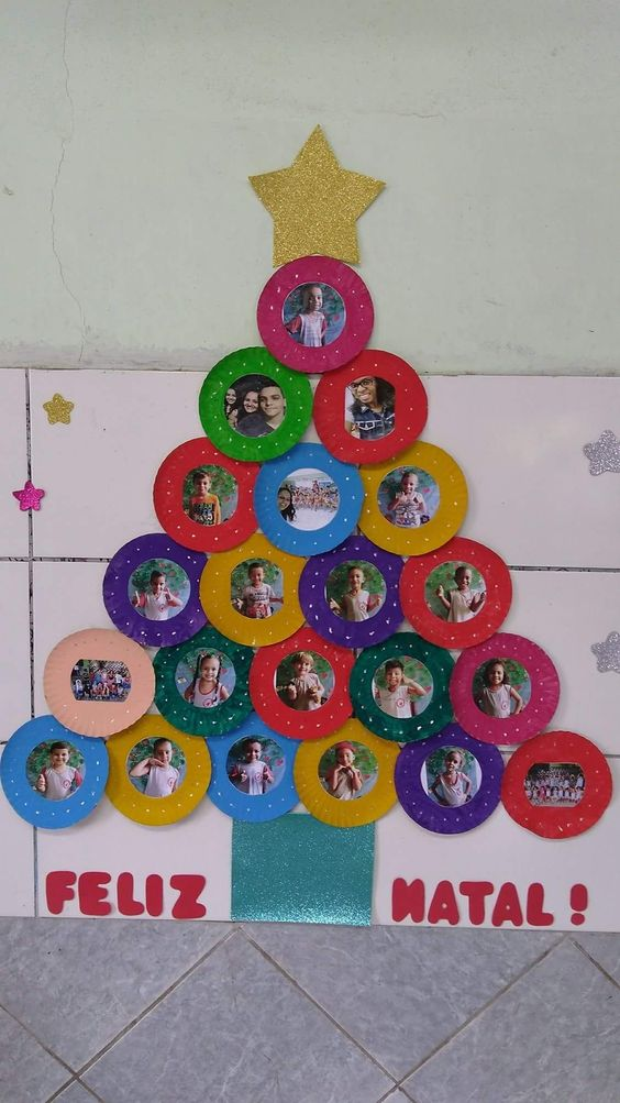 Use superhero star bust/shapes for the tree for door