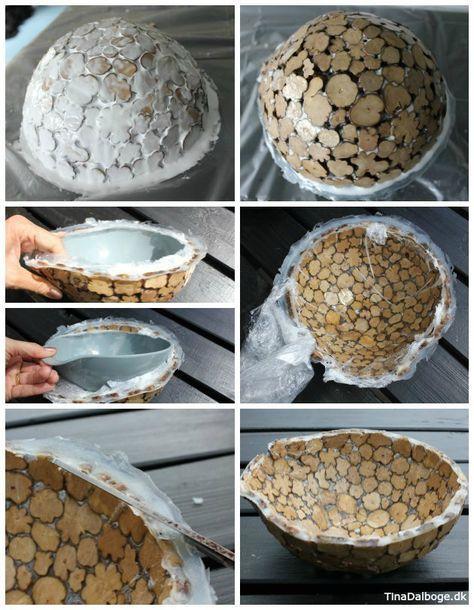 DIY lav en skål af træmix og paverpol. Køb materialer i kreahobshop.