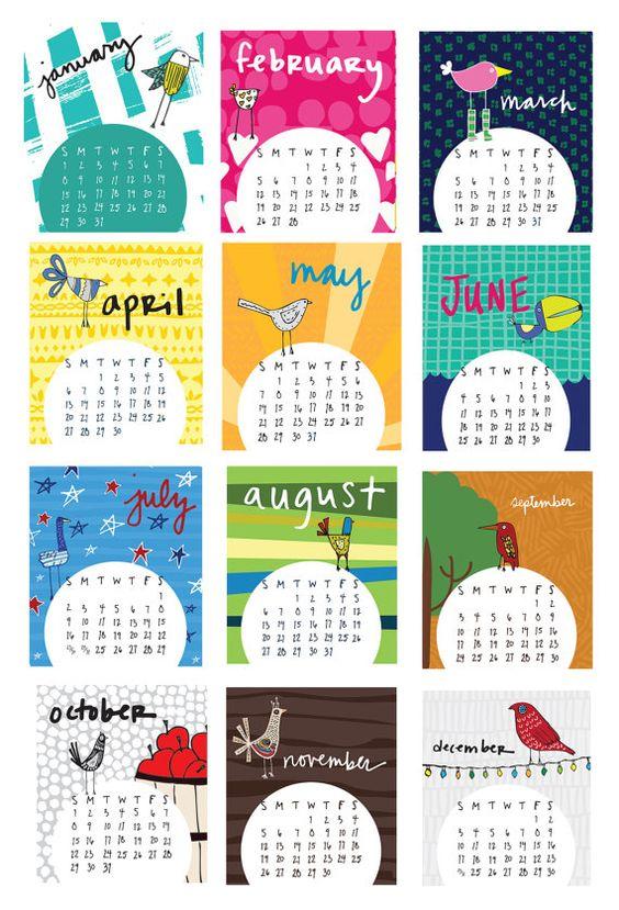 Mini-2017-Tischkalender mit Fall von cobblestonestudio2 auf Etsy